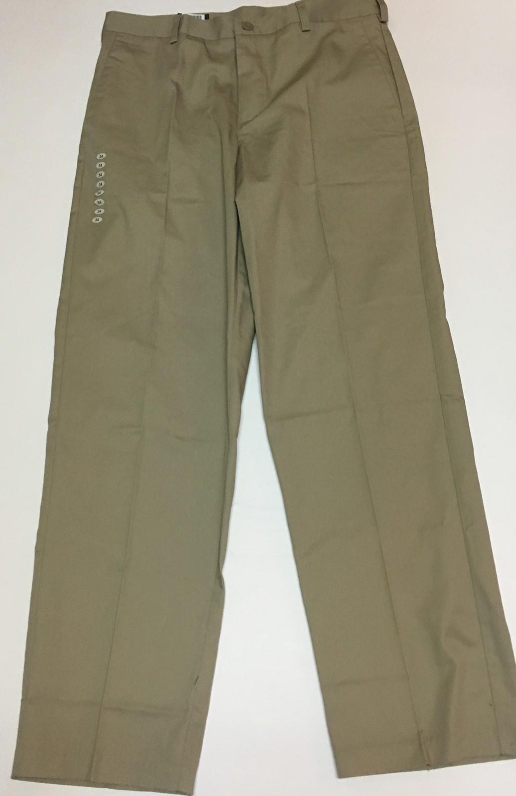 Universal School Uniform Khaki Pants Sz 34 x 30 NWT
