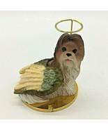 Shih Tzu Dog Puppy Angel Remembrance Ornament Brown & White - $3.99