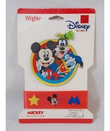 Disney Home Wrights Mickey Mouse Goofy Donald Sew-On Cloth Patch & Ribbo... - $14.84