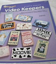 Video Keepers in plastic canvas Booklet 943928 The needlecraft shop Rare find! - $12.86