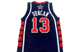 Tim Duncan #13 Team USA Men Basketball Jersey Navy Blue Any Size image 5
