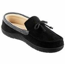 Totes Toasties Men's Size Medium M 8-9  Black & Gray Memory Foam Slipper... - $18.95