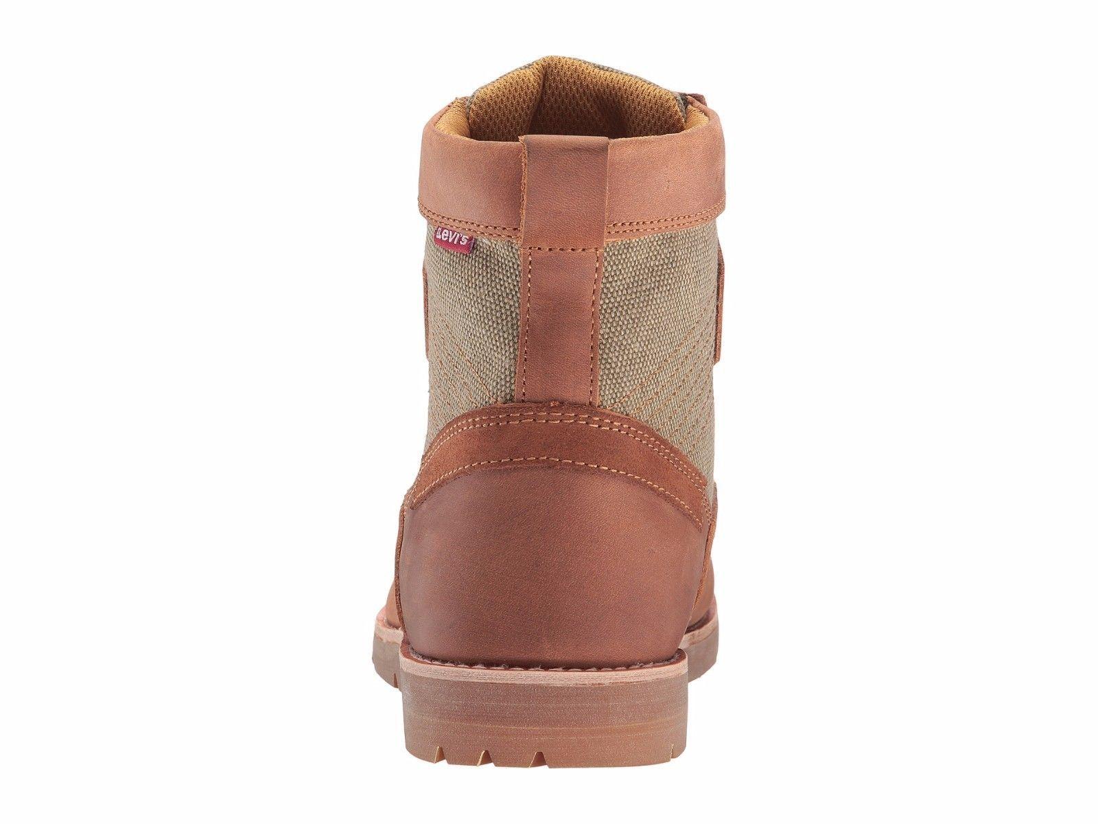 Mens Levi's Dawson Hemp Khaki/British Tan Boots [517205-J95]