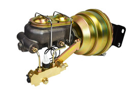 "74-86 Jeep CJ 8"" Dual Power Brake Booster Master Cylinder Prop Valve Disc/Disc image 2"