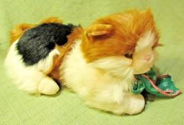 "Commonwealth CALICO CAT 17"" Plush 1990 Kitty Toy Green Eyes Christmas Gi... - $23.38"