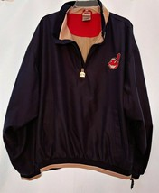 CLEVELAND INDIANS Jacket Size Large Mens Windbreaker Chief Wahoo Lightwe... - $16.59