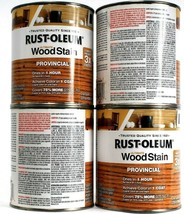 4 Cans Rust-Oleum 32 Oz Ultimate Wood Stain One Coat 1 Hr Dry 205589 Pro... - $52.99
