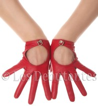 RED LEATHER DRIVING GLOVES LES DEBUTANTES - $21.25