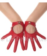 RED LEATHER DRIVING GLOVES LES DEBUTANTES - $19.50