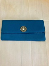 Michael Kors Royal Blue Fabric Slim Clutch NWOT - £29.39 GBP