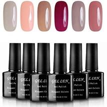 Gellen Soak Off UV LED Gel Nail Polish, Pastel Colors Gift Set - 10ml Ea... - $19.82