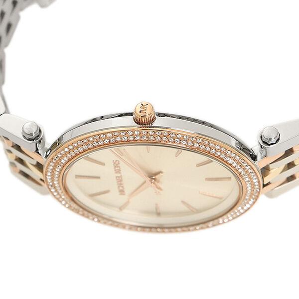 michael kors mk3203 darci cadran en argent trois ton montre femmes wristwatches