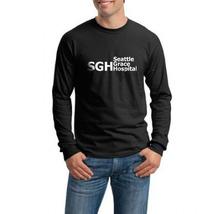 SGH Seattle Grace Hospital Grey's Anatomy tee Men Longsleeve Black - $21.00
