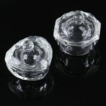 Cup Nail Faux Crystal Glass  Tools Art Liquid Powder Dappen Arcylic Cont... - $8.99