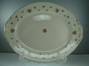 "Homer Laughlin Rambler Rose 13 3/8"" Platter"
