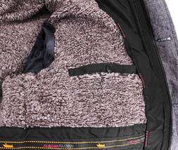 Men's Heavy Weight Warm Winter Coat Puffer Faux Fur Trim Sherpa Lined Jacket image 7