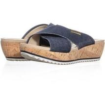 Anne Klein AK Sport Felisha Platform Slip On Sandals 535, Blue White, 6.... - $21.11