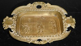 ANTIQUE FRENCH CAST BRONZE HANDLED DISH ASHTRAY EXQUISITE! - $149.00