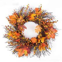 ISHOWTIENDA 50cm Berry Fall Maple Leaves Artificial Flower - $40.95