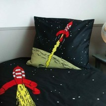Tintin & Rocket single duvet cover set & square pillow Tintin official product
