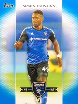 Simon Dawkins 2017 Topps MLS Card - San Jose Earthquakes - Blue Parallel Numbere - $7.99