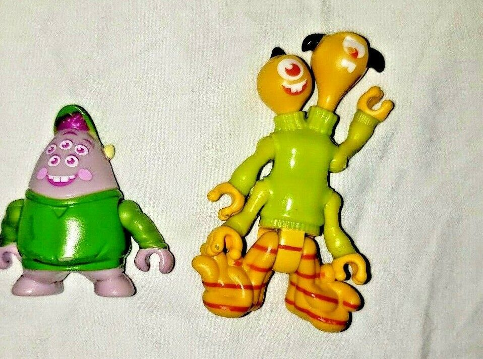 """Disney Monsters Inc Figures Lot of 7 1.5"""" - 5"""" Figures Cake Toppers Toys PVC"""