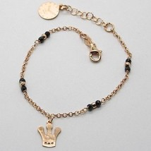 """925 Sterling Rose Silver """"Le Favole"""" Bracelet Crown Pendant, Watch, Tale, Spinel - $56.05"""