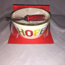 New and beautiful HOPE Ceramic  Dip Bowl and  Spreader Set 5b - €10,72 EUR