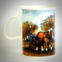Dunoon Vintage Coffee Tea Mug Fine Bone China Horses Equestrian Horse Te... - $24.70