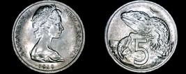 1969 New Zealand 5 Cent World Coin - Elizabeth II - $4.99