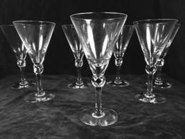 7 Antique Fostoria Exeter 10 oz. Elegant Glass WATER Stem Goblet - $19.79