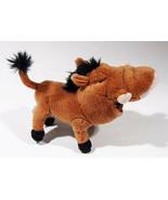 "LION KING PUMBAA 8"" PLUSH WARTHOG GRUB BUGS IN MOUTH APPLAUSE PUMBA STUFFED - $21.03"