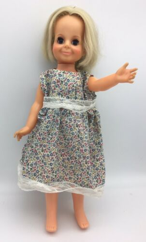 "Primary image for Vintage Ideal Toy Velvet Doll from Crissy Family Growing Hair Blonde 1970 15"" #2"