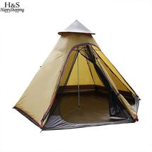 Ancheer New camping tent Oxford 7-8 Person Pyramid Tent Waterproof Tent ... - $203.99