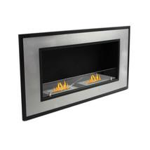 "47"" Wall Mount Ethanol Fireplace Heater w/Ventless 2Burner Insert&Temper... - $549.00"