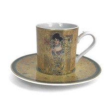 Goebel Artis Orbis Gustav Klimt Woman In Gold Adele Bloch Demitasse Cup ... - $32.68
