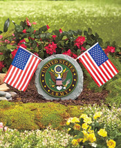 Army Military Garden Stone Removable Flags Cera... - $23.75