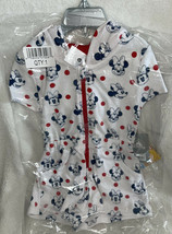 Disney Store Minnie Mouse Girls Hooded Cover-Up Shorts Romper Ears Bow 3T NWT - $25.99