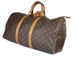 LOUIS VUITTON Vintage Keepall 50 Monogram Canvas Leather Boston Bag LH2504 - $459.00