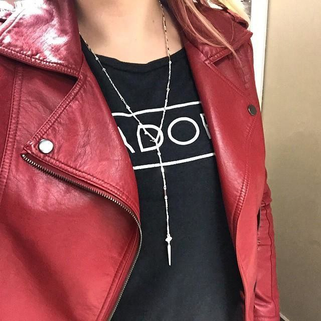 Women Fashion Tide Disco Ball Chain Necklace Look Long Nape Accessories