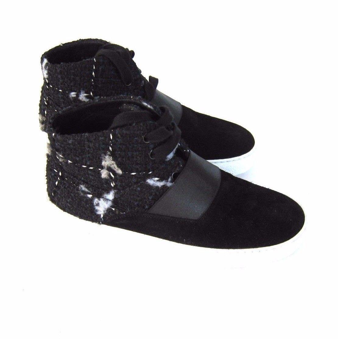 cf2e68a95152 J-2419310 New Chanel Black Tweed Hi-Top and 50 similar items