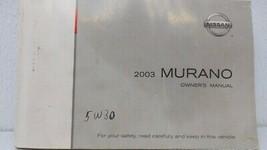 2003 Nissan Murano Owners Manual 73469 - $23.25