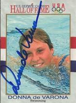 Donna de Varona 1991 Impel Olympic Autograph #37 - $14.89
