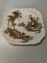 """Johnson Brothers The Old Mill Brown 7 3/4"""""""" Square Salad Plate - $4.46"""