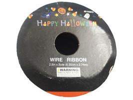 "Momentum Halloween 2.5"" Wire Ribbon, 3 Feet image 2"