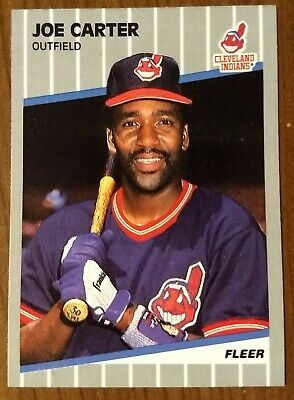 Primary image for Joe Carter Cleveland Indians 1989 Fleer #400 - Fast Shipping