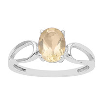 Citrine Oval Cut Female Anniversary Ring 925 Silver Jewelry for Women/Gi... - $5.00