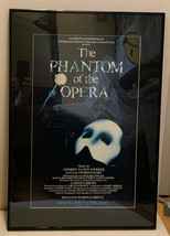 "Phantom of the Opera Metal Framed Clear Glass 25"" x 17"" Broadway Play Po... - $37.61"