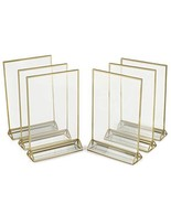 Super Star Quality Clear Acrylic Double Sided Frames Display Holder with... - $29.17
