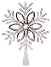 Christmas Tree Topper, Acrylic Snowflake, 10-In. - $24.74